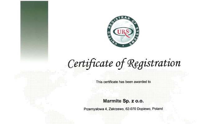 Certificate ISO 28000 (Zakrzewo)